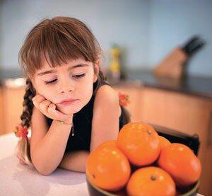 Девочке нельзя есть апельсины