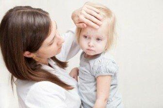 Мама беспокоится за здоровье ребенка