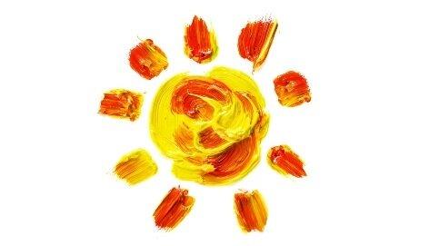 Солнце красками
