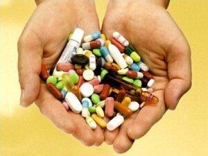 Горсть лекарственных препаратов