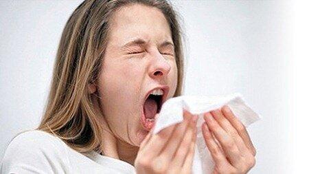 Чихание - реакция на пыль